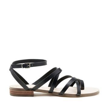 Sole Society Sole Society Koko Strappy Flat Sandal - Black-5
