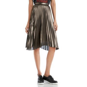 Astr Astr Celeste Skirt - Metallic Bronze