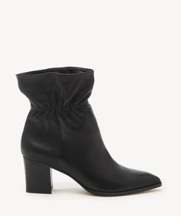 Sole Society Women's Demetria Paperbag Bootie Black Leather From Sole Society