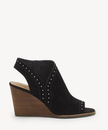 Lucky Brand Lucky Brand Women's Ulyssas Peep Toe Wedges Black Size 5 Suede From Sole Society