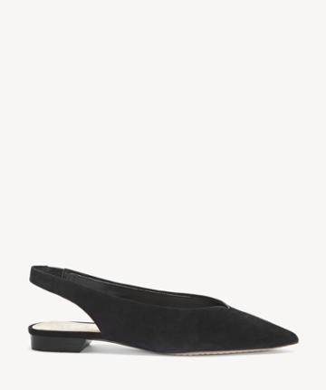 Vince Camuto Vince Camuto Women's Maltida Slingback Flats Black Size 5 Suede From Sole Society