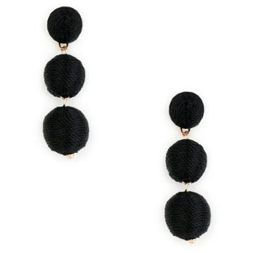 Sole Society Sole Society Triple Tier Drop Earrings - Black