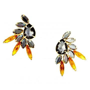 Sole Society Sole Society Feather Stone Earring -