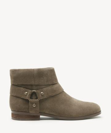 Sole Society Women's Brighid Flats Bootie Antique Green Size 5 Suede From Sole Society
