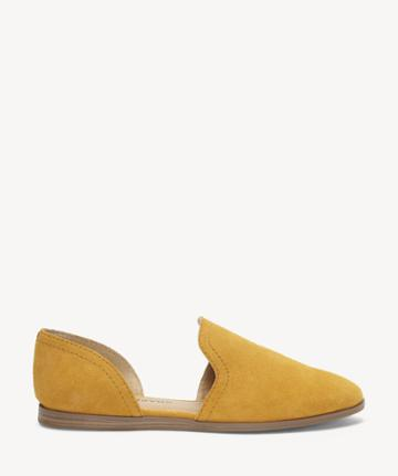 Lucky Brand Lucky Brand Women's Jinree Flats Inca Gold Size 5 Suede Leather From Sole Society