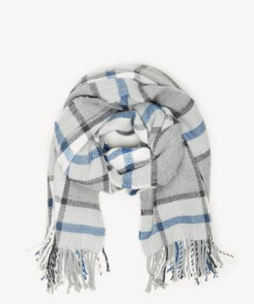 Sole Society Women's Window Pane Scarf Grey From Sole Society