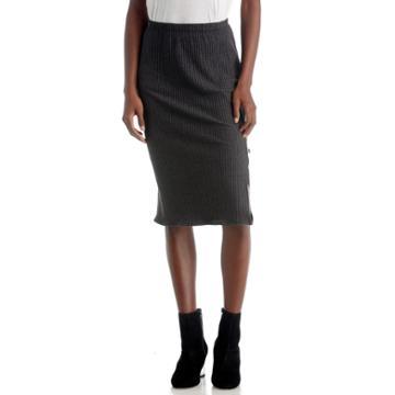 Nytt Nytt Nicole Midi Skirt - Black-xs
