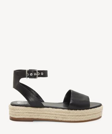 Vince Camuto Vince Camuto Women's Kathalia Espadrille Wedges Black Size 5 Leather From Sole Society