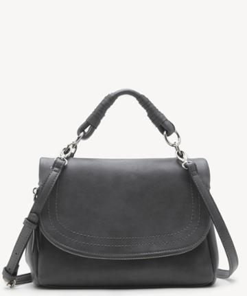 Sole Society Women's Rubie Crossbody Vegan Bag Charcoal Vegan Leather From Sole Society
