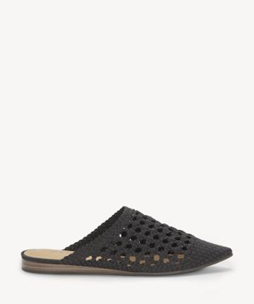 Lucky Brand Lucky Brand Women's Baylint Woven Flats Black Size 5 Leather From Sole Society