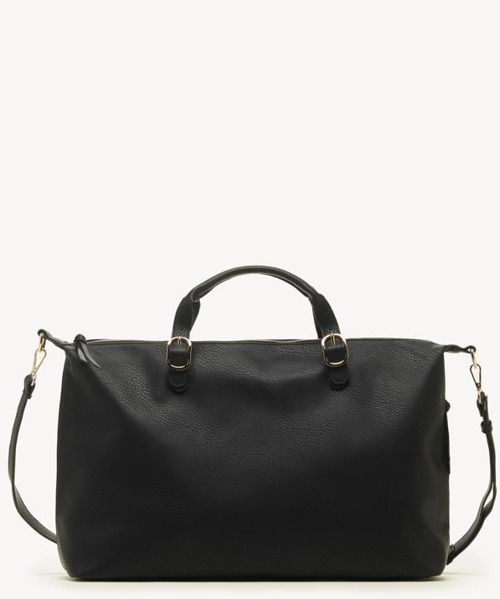 Sole Society Women's Grant Weekender Vegan In Color: Black Bag Vegan Leather From Sole Society