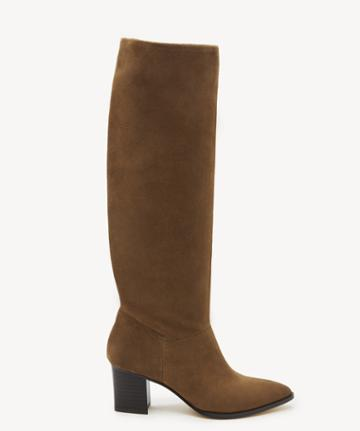 Sole Society Women's Danilynn Tall Heeled Boots Tobacco Size 5 Leather From Sole Society