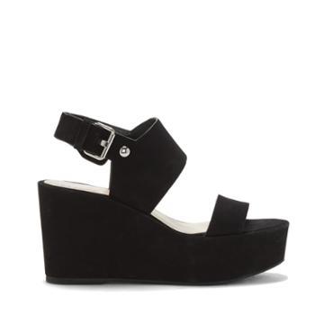 Vince Camuto Vince Camuto Karlan Platform Wedge Sandal - Black-5