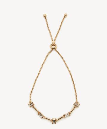 Sole Society Women's Slidesr Bracelet 14k Vintage Gold/crystal Size Onesize From Sole Society