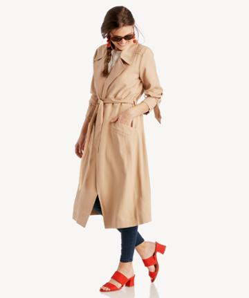 1. State 1. State Belted Trench Coat