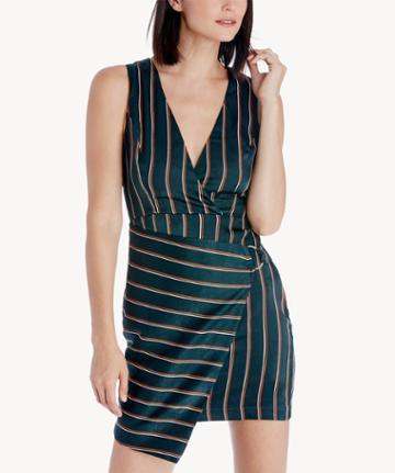 J.o.a. J.o.a. Wrap Style Stripe Dress