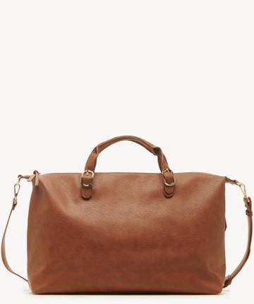 Sole Society Women's Grant Weekender Vegan In Color: Cognac Bag Vegan Leather From Sole Society