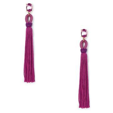 Sole Society Sole Society Long Tassel Drop Earrings - Fuschia