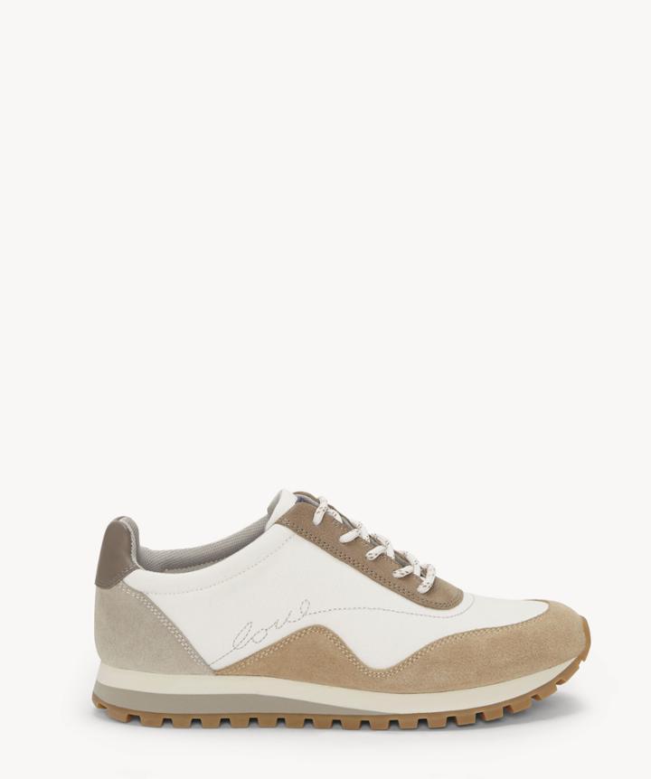 Ed Ellen Degeneres Ed Ellen Degeneres Women's Fabrey Sneakers Milk/dk Sand Size 5 Fabric From Sole Society