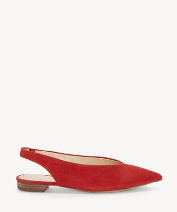 Vince Camuto Vince Camuto Women's Maltida Slingback Flats Red Hot Rio Size 5 Suede From Sole Society