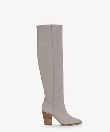 Lucky Brand Lucky Brand Women's Azoola Tall Boots Chinchilla Size 5 Leather From Sole Society