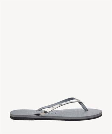 Havaianas Havaianas You Metallic Flip Flop Steel Grey Size 11/12 Rubber From Sole Society
