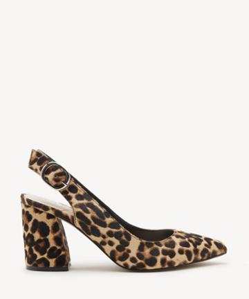 Sole Society Women's Trudie Slingback Pumps Brown Multi Size 5 Haircalf From Sole Society