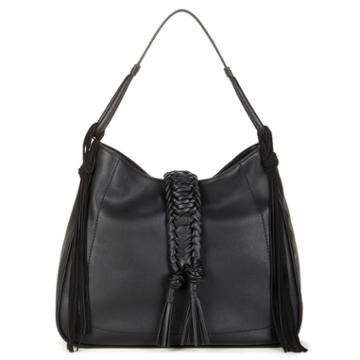 Sole Society Sole Society Vale Braided Tote W/ Tassel - Black-one Size