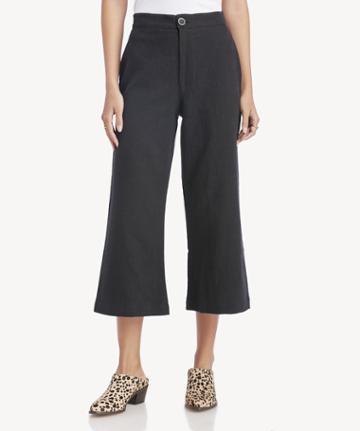 Rachel Pally Rachel Pally Women's Linen Julien Pants In Color: Black Size Xs From Sole Society