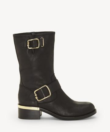 Vince Camuto Vince Camuto Women's Wantilla Buckle Boots Black Size 5 Leather From Sole Society