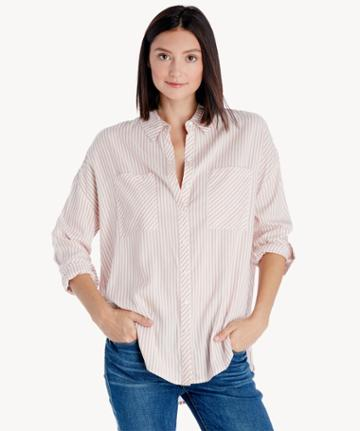 1. State 1. State Patch Pocket High Low Blouse