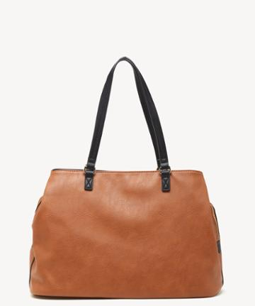 Sole Society Women's Miller Over Vegan Tote New Cognac Vegan Leather From Sole Society