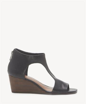 Lucky Brand Lucky Brand Women's Tehirr Back Zip Wedges Black Size 5 Leather From Sole Society