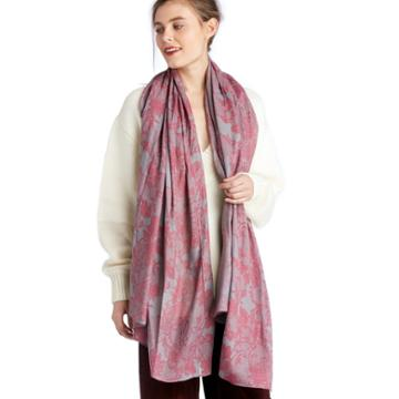 Sole Society Sole Society Lace Printed Scarf - Orchid-one Size