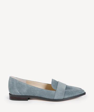 Sole Society Women's Edie Smoking Slippers Flats Aged Sage Size 5 Leather Suede From Sole Society