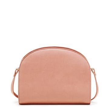 Sole Society Women's Kinslee Watermelon Shape Crossbody Bag Dusty Rose Vegan Leather From Sole Society