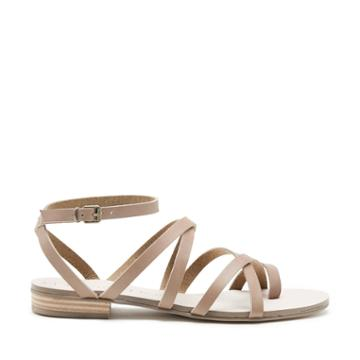 Sole Society Sole Society Koko Strappy Flat Sandal - Night Taupe-5