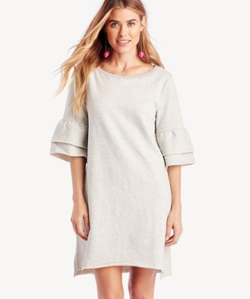 Sanctuary Sanctuary Women's Flutter Me Please Dress In Color: Heather Sterling Size Xs From Sole Society