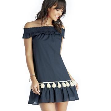 Misa Misa Gia Dress - Dark Blue-x-small