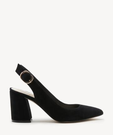 Sole Society Women's Trudie Slingback Pumps Black Size 5 Haircalf From Sole Society