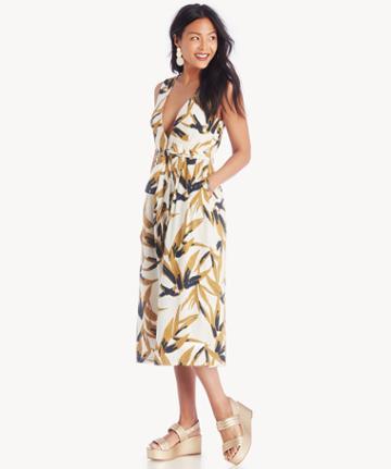 J.o.a. J.o.a. Button Up Wrap Dress