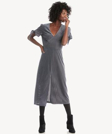 J.o.a. J.o.a. Tie Sleeve Midi Dress