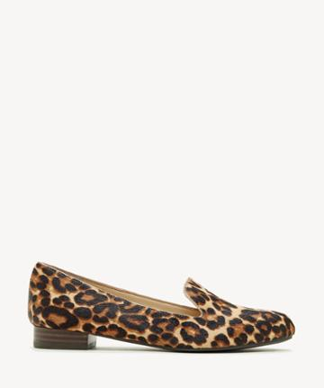 Sole Society Women's Macey Menswear Inspired Flats Brown Multi Size 5 Classic Leopard From Sole Society
