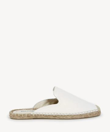 Soludos Soludos Women's Tumbled Leather Mules White Size 6 From Sole Society