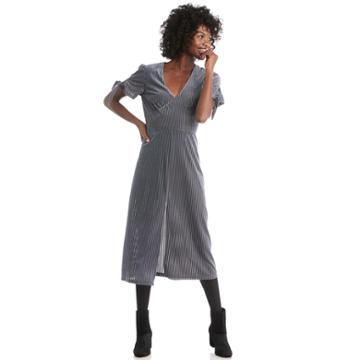 J.o.a. J.o.a. Tie Sleeve Midi Dress - Slate-xs