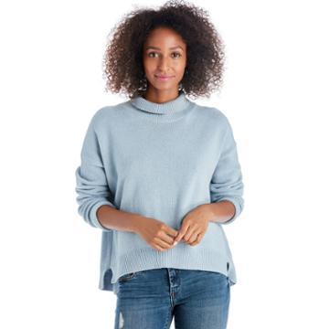 J.o.a. J.o.a. Oversized Turtleneck Knit Top - Blue