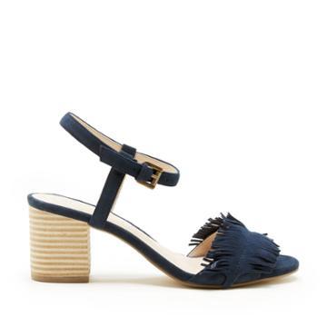 Sole Society Sole Society Sepia Fringe Ankle Strap Sandal - Ink Navy-5