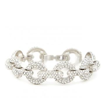 Sole Society Sole Society Crystal Link Bracelet - Silver