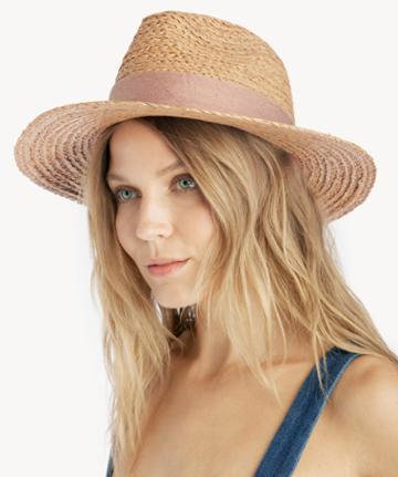 Sole Society Women's Wide Brim Raffia Hat Blush One Size Straw From Sole Society