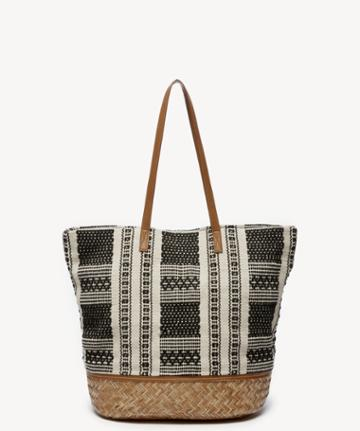 Sole Society Sole Society Jaam Tote Oversize Fabric Tote